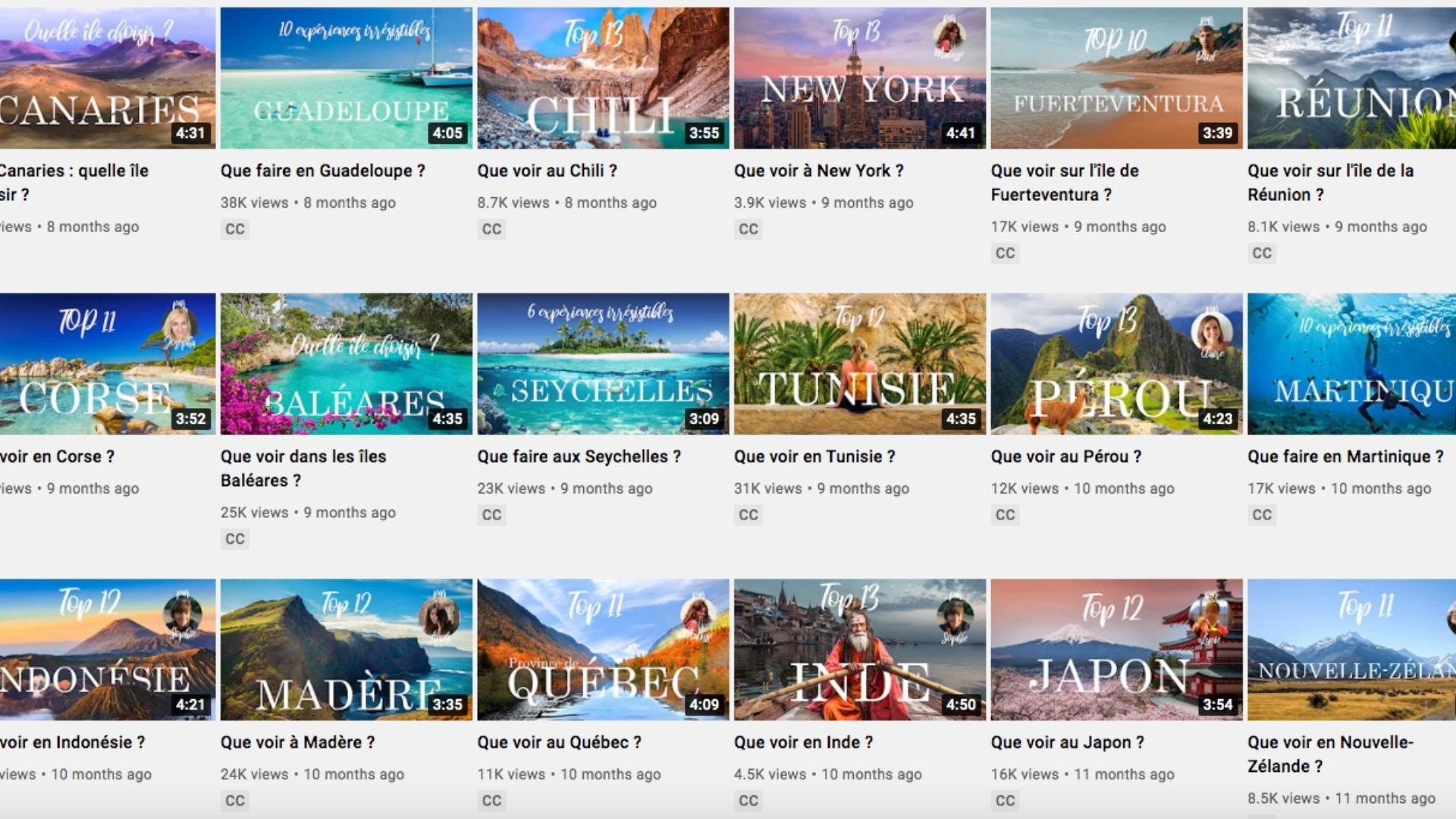 production series video tourisme